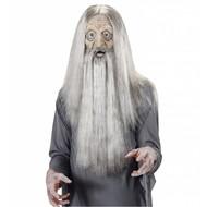 Halloweenaccessoires masker latex/schuim millenarian met haar