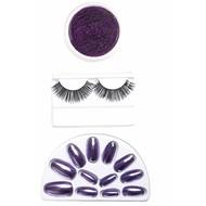 Halloweenaccessoires make-up set paars