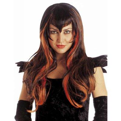 Heksenpruik Samantha voor Halloween