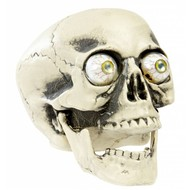 Halloweenaccessoires pvc schedel met echt lijkende ogen 21cm