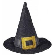Halloweenaccessoires mini heksenhoed