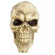 Halloweenaccessoires wanddecoratie schedel