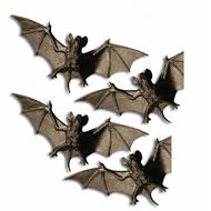Halloweenaccessoires: Vleermuizen 4 stuks 11 cm