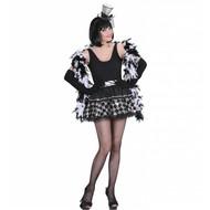 Halloweenkostuum tutu pailletten zwart/zilver