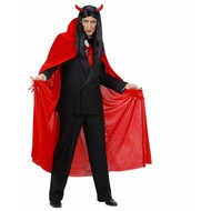 Halloweenaccessoires rode cape fluweel 145cm