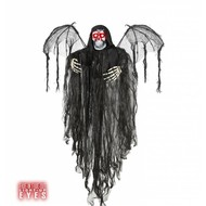 Halloweenartikelen engel des doods met oplichtende ogen