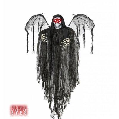 Halloweenartikelen engel des doods met oplichtende ogen 100cm
