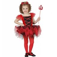 Halloweenkleding ballerina duivel