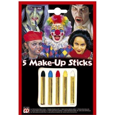 Halloweenaccessoires 5 make-up stiften