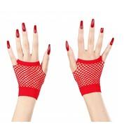 Halloweenaccessoires vingerloze nethandschoenen rood