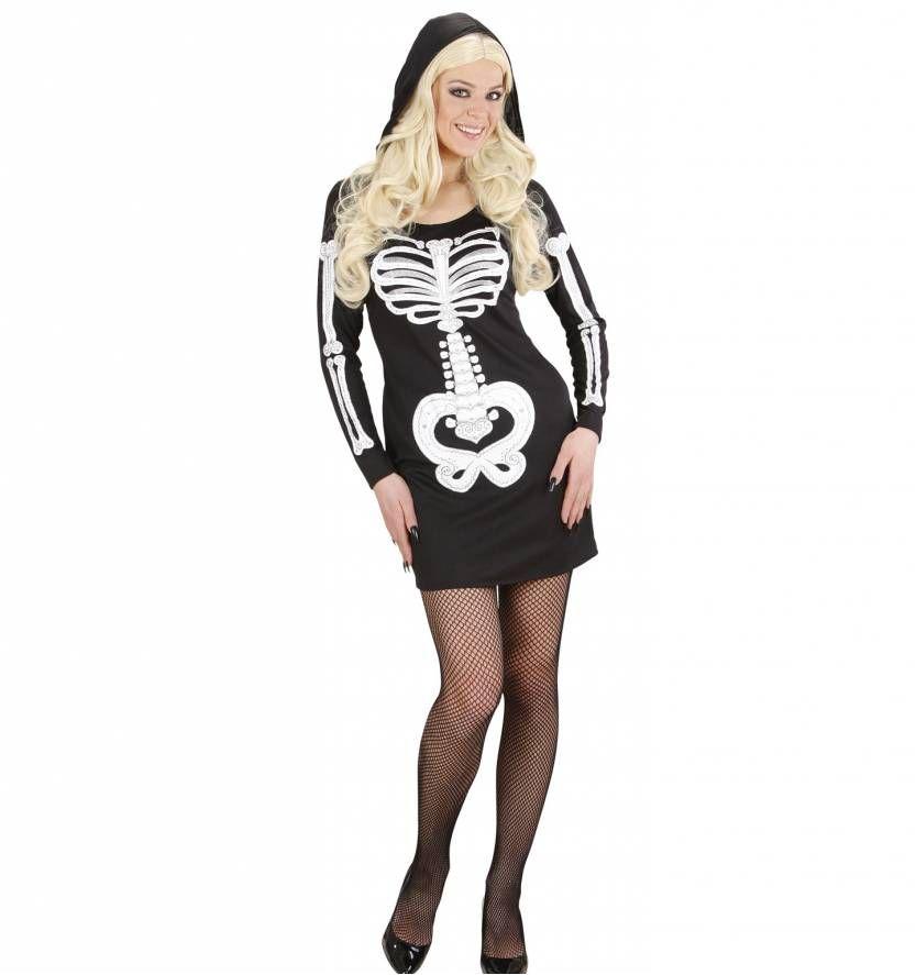 Halloween Kleding Dames.Halloweenkleding Glamour Skeletten Vrouw