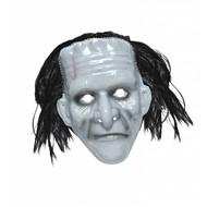 Halloweenaccessoires pvc monster masker met haar