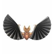 Halloweenaccessoires papierdecoratie vleermuis