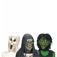 Halloweenaccessoires kindermasker horror heks/geest/schedel