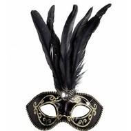Halloweenaccessoires glitter oogmasker met stenen goud
