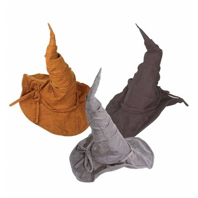Suede-look heksenhoeden voor Halloween