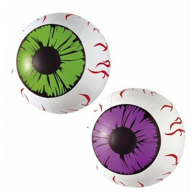 Halloweenartikelen set van 2 opblaasbare ogen