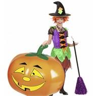 Halloweenaccessoires: Opblaas pompoen 110 cm