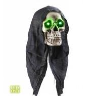 Halloweenaccessoires: Schedel met hoofddoek 45 cm