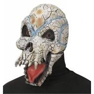 Halloweenaccessoires masker reptiel schedel
