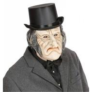 Halloweenaccessoires masker latex/schuim enge oude man met haar