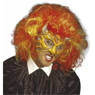 Halloweenaccessoires glitter oogmasker duivel van pvc