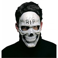 Halloweenaccessoires schedelmasker r.i.p.
