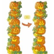 Halloweenaccessoires pompoen verticale decoratie 41x132cm