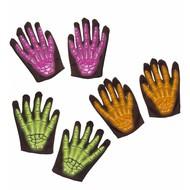 Halloweenartikel skelethandschoenen 3d neon l.i.d.