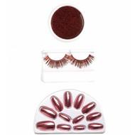 Halloweenaccessoires make-up set rood