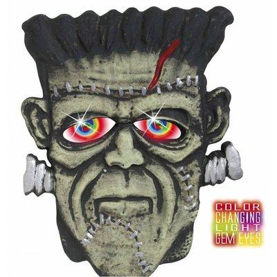 Halloweenaccessoires hoofd monster met meerkleurig licht