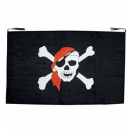 Halloweenartikelen piratenvlag 130x80 cm