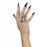 Halloweenaccessoires: Ring met spinnenweb