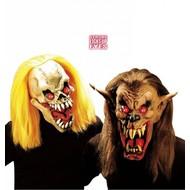 Halloweenaccessoires masker enge bijter