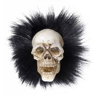 Halloweenaccessoires: Schedelbroche met veren