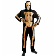 Halloweenkleding 3d neon skelet
