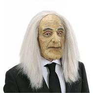 Halloweenmasker: Butler masker met pruik