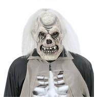 Halloweenmasker: Verrotte schedel maskers met pruik