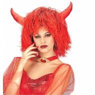 Halloweenartikel pruik Inferno