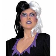 Halloweenaccessoires: Pruik Black & White