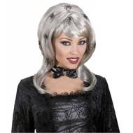 Halloweenaccessoires: Pruik Spiderlady