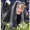 Zwart grijze kinder heksenpruik Elisa