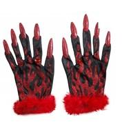 Halloweenaccessoires: Handschoenen Duivel