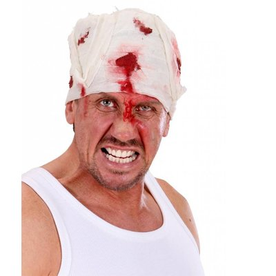 Bloederig verband om het hoofd voor Halloween