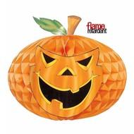 Halloweenaccessoires neon decoratie pompoen 52cm brandveilig