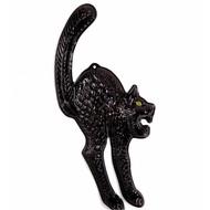 Halloweenaccessoires wanddecoratie zwarte kat lichtgevend in donker 3d