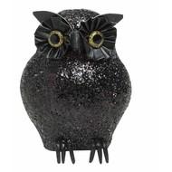 Halloweenaccessoires: Glitter dieren: Uil