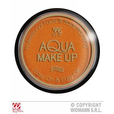 Halloweenaccessoires aqua make-up metalic 15g oranje
