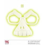 Halloweenartikel schedelbril lichtgevend in donker