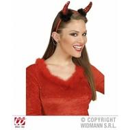 """Halloweenaccessoires: Oorbellen Ster met """"diamant"""""""